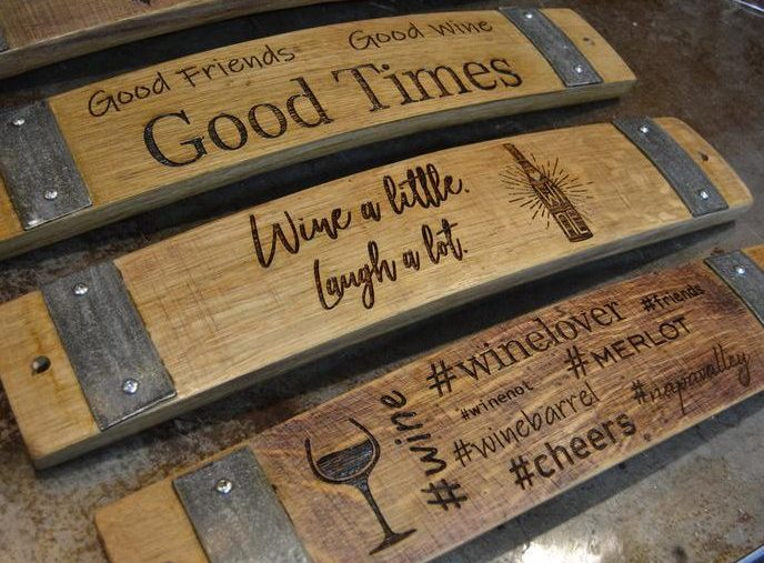 Sayings on Wine Barrel Staves
