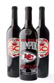 3 Bottles of Kansas City Chiefs wine.