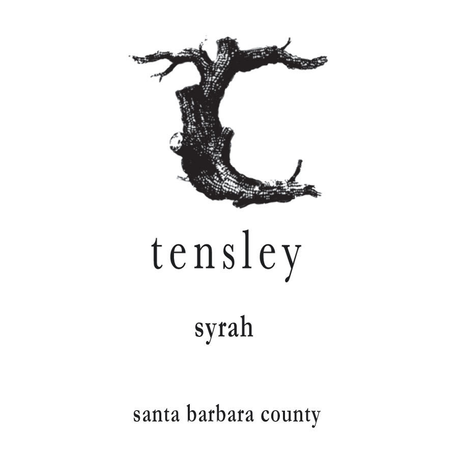 Tensley Syrah wine label