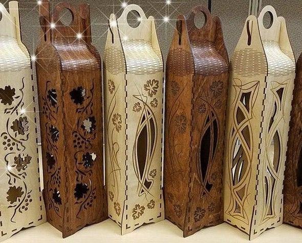 Lasered Wood Wine Gift Box