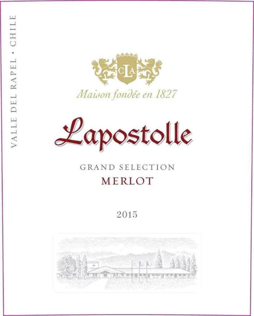 Wine Label for Lapostolle Merlot