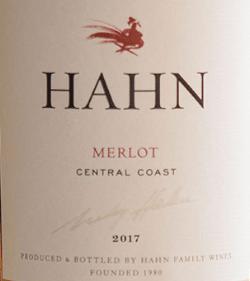 Wine Label for Hahn Merlot