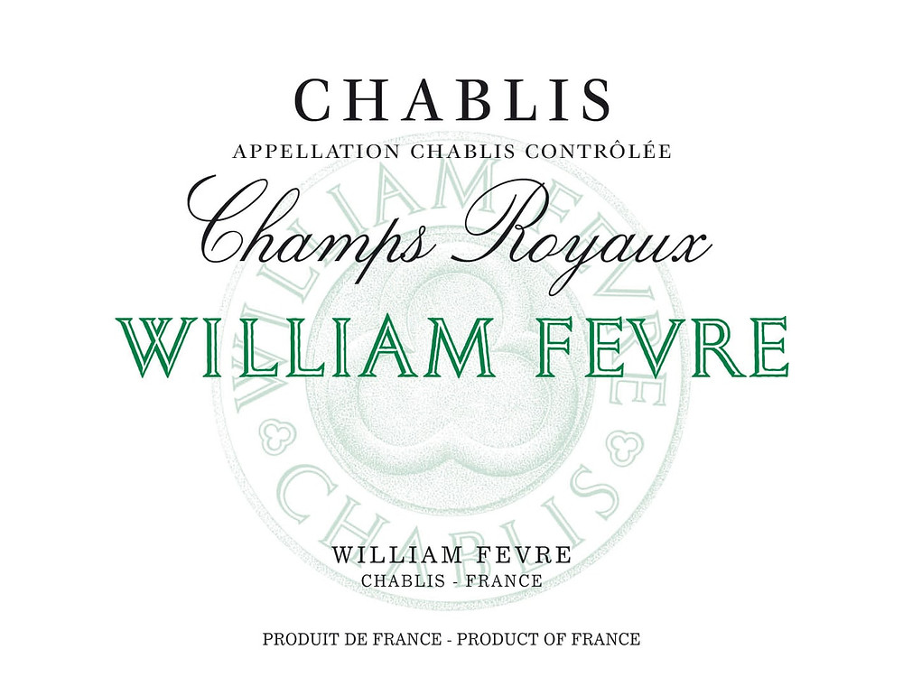 Chablis village wine label
