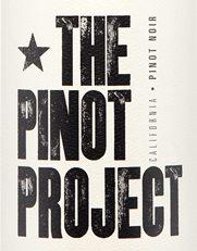Wine label for The Pinot Project