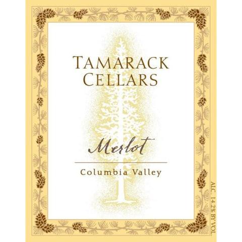 Tamarack Cellars Merlot wine label.