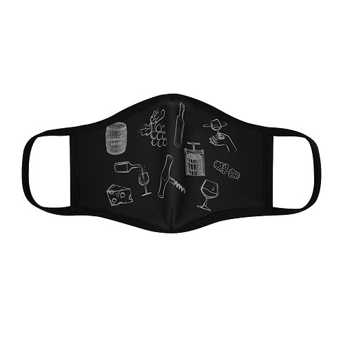 Wine Theme - Fitted Polyester Face Mask