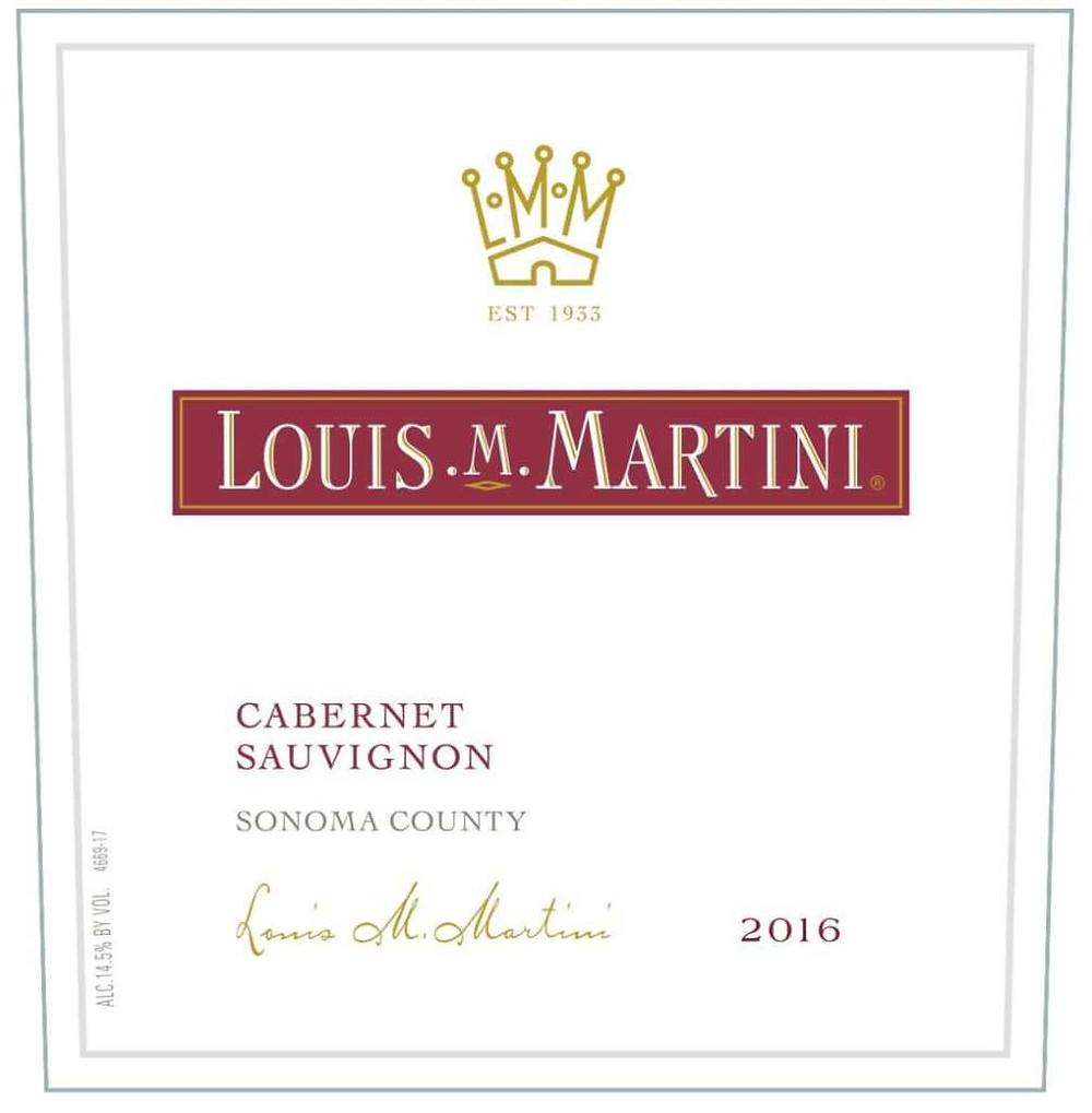 Wine Label for Louis Martini Cabernet Sauvignon
