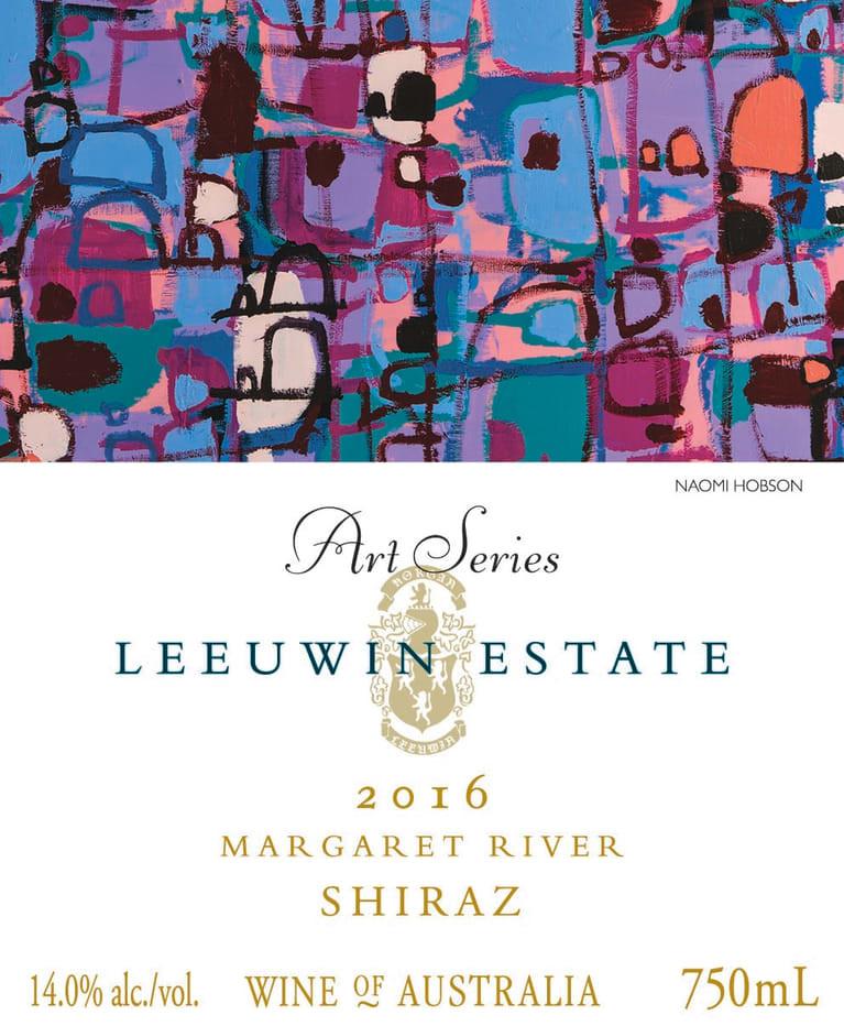 Leeuwin Estate Shiraz wine label.