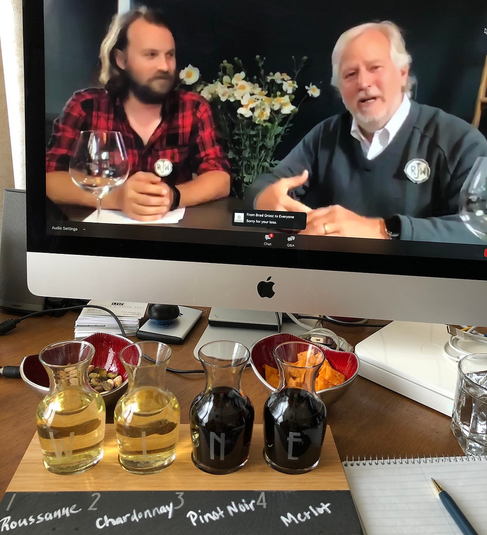 Frog's Leap Father and Son conducting virtual wine tasting.