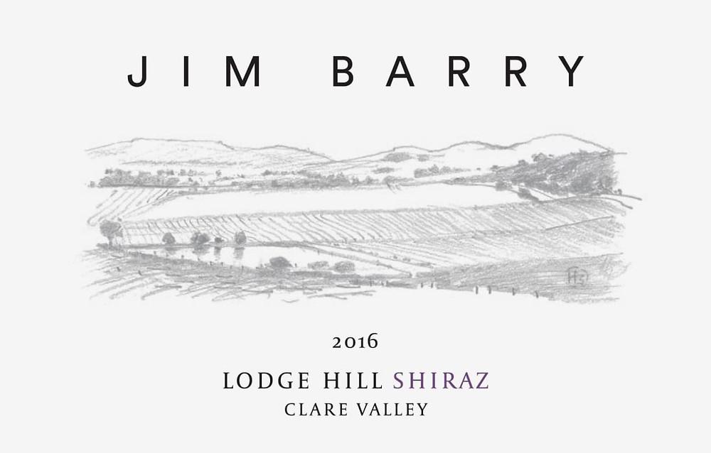 Jim Barry Shiraz wine label.
