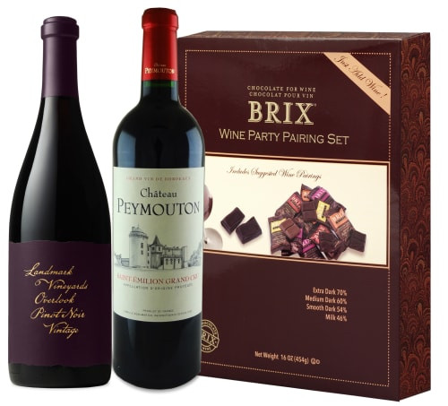 Wine and Chocolate pairing kit.