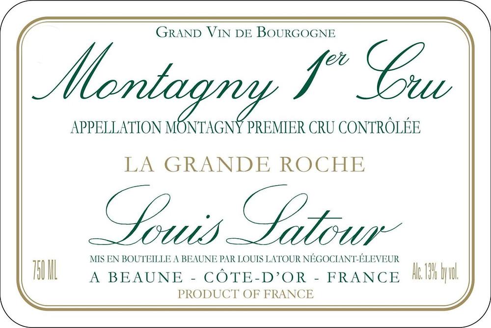 Montagny Premier Cru wine label.