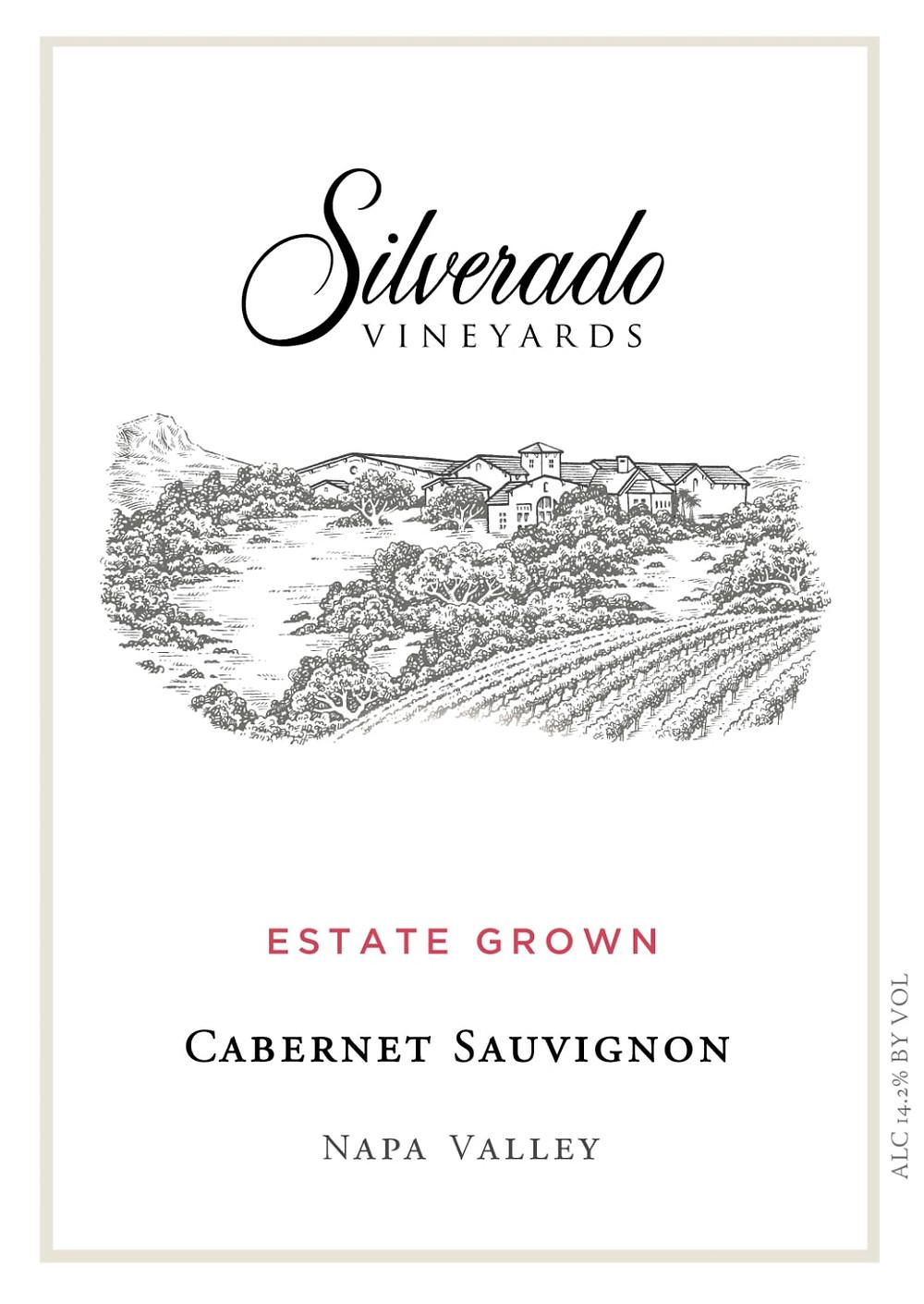 Silverado Cabernet Sauvignon wine label