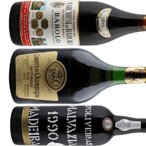 Bottles of rare old wine.