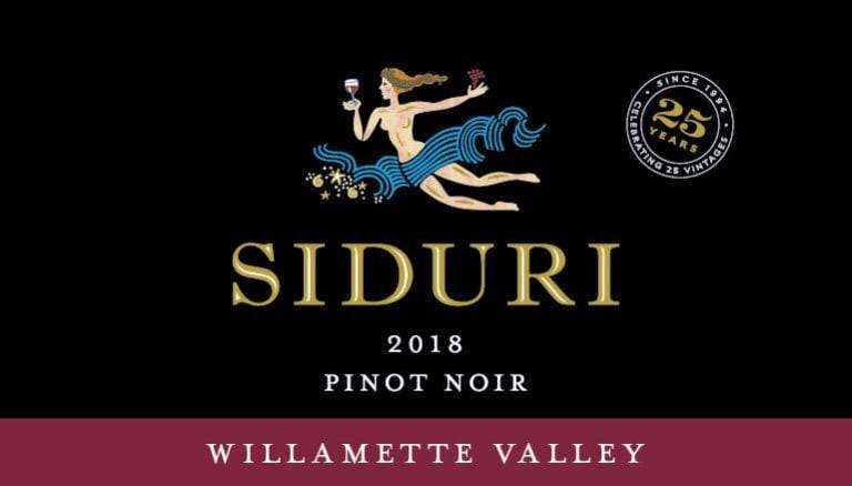SIDURI Pinot Noir wine label.