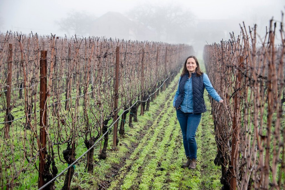 Laura Diaz Munoz in the vineyard at Ehlers Estate where she is the lead winemaker.