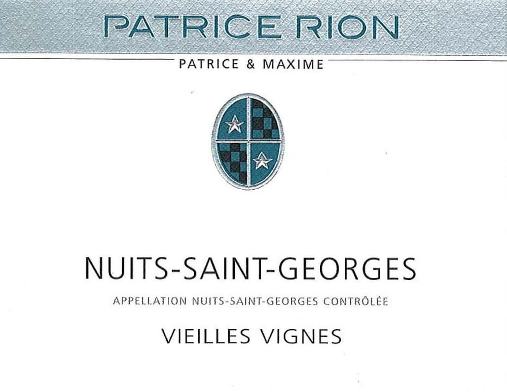 Patrice Rion Nuit-Saint-Georges wine label.