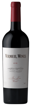 Bottle of Jean Louis Vermeil Cabernet Sauvignon.