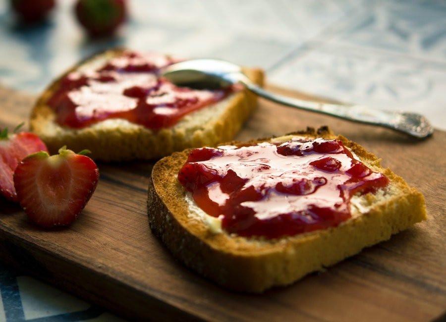 Toast with jam.
