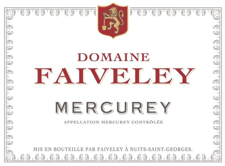 Domaine Faiveley Mercurey wine label.