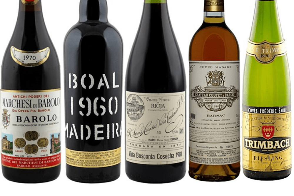 Bottles of wine that are best for milestone wine gifts.