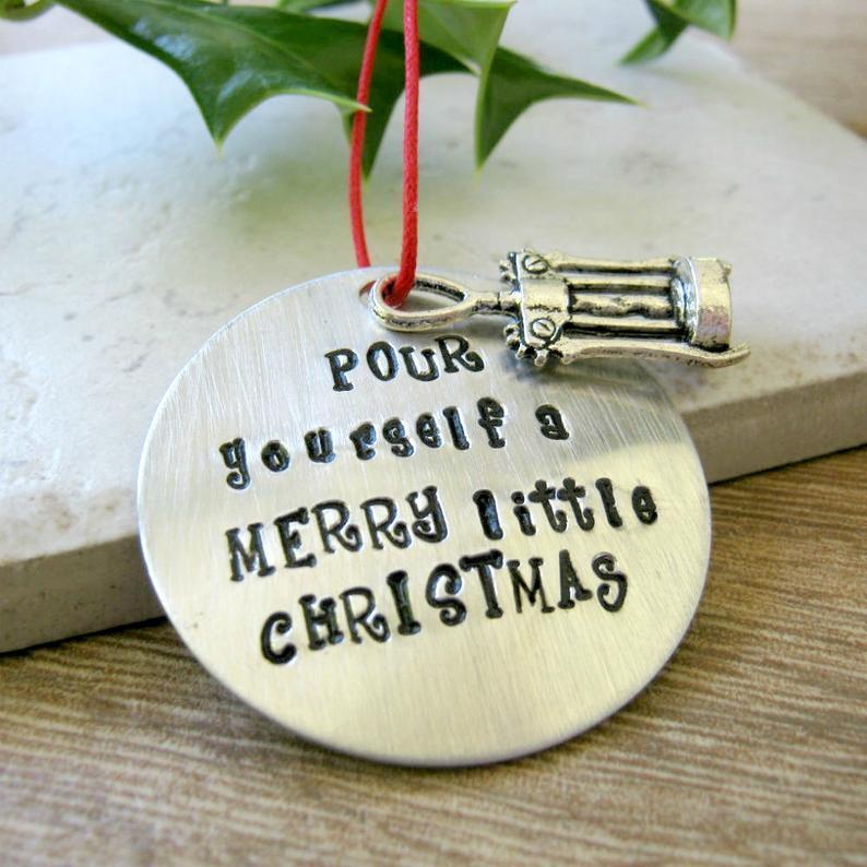 Corkscrew Wine Ornament