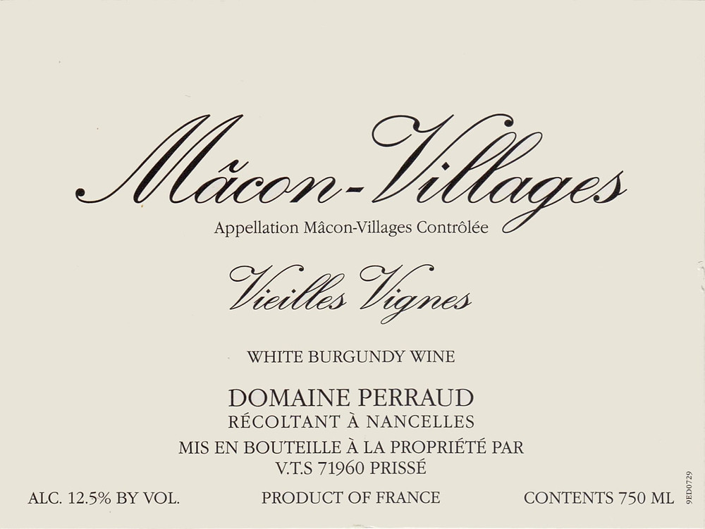Village wine label