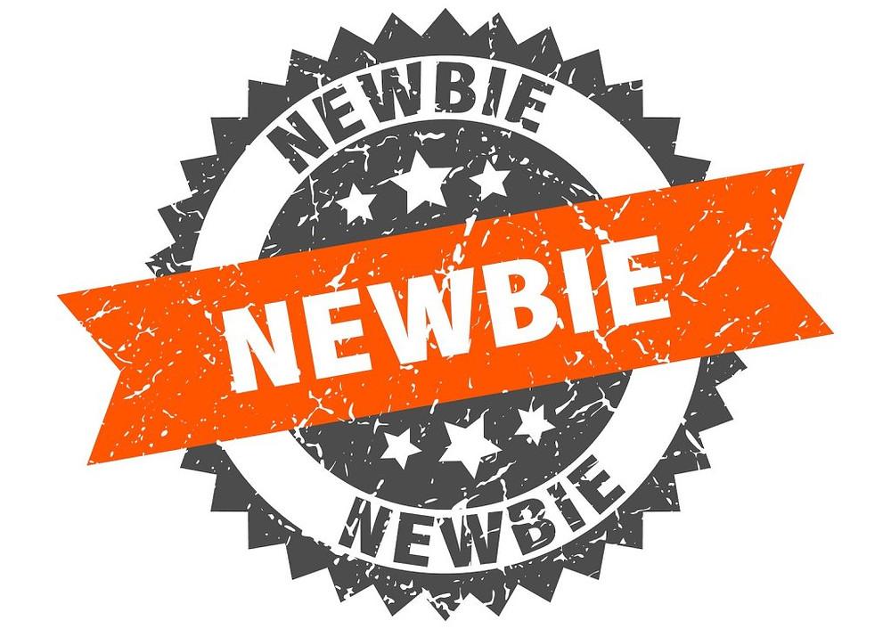 newbie grunge stamp with orange band