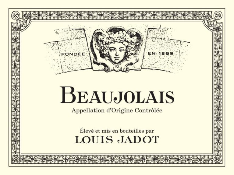 Louis Jadot Beaujolais wine label.