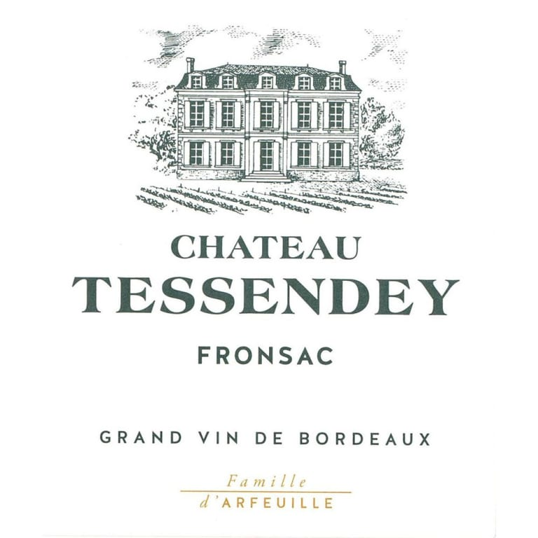 Chateau Tessendey Bordeaux from Fronsac - wine label