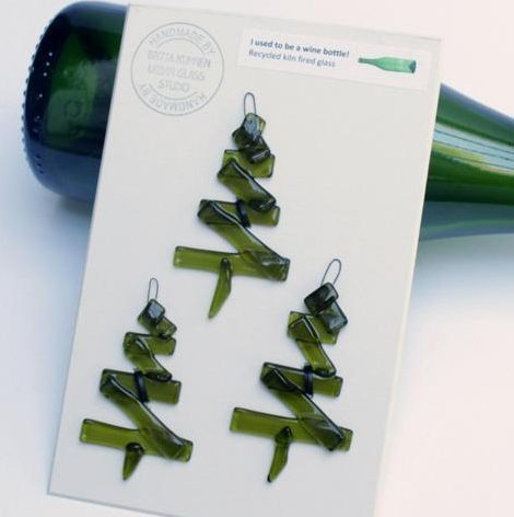 Recycled Wine Bottle Ornaments