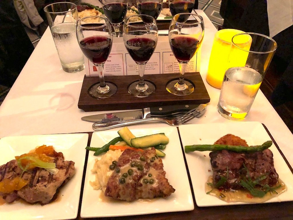 Butcher's Flight paired with flight of red wine.
