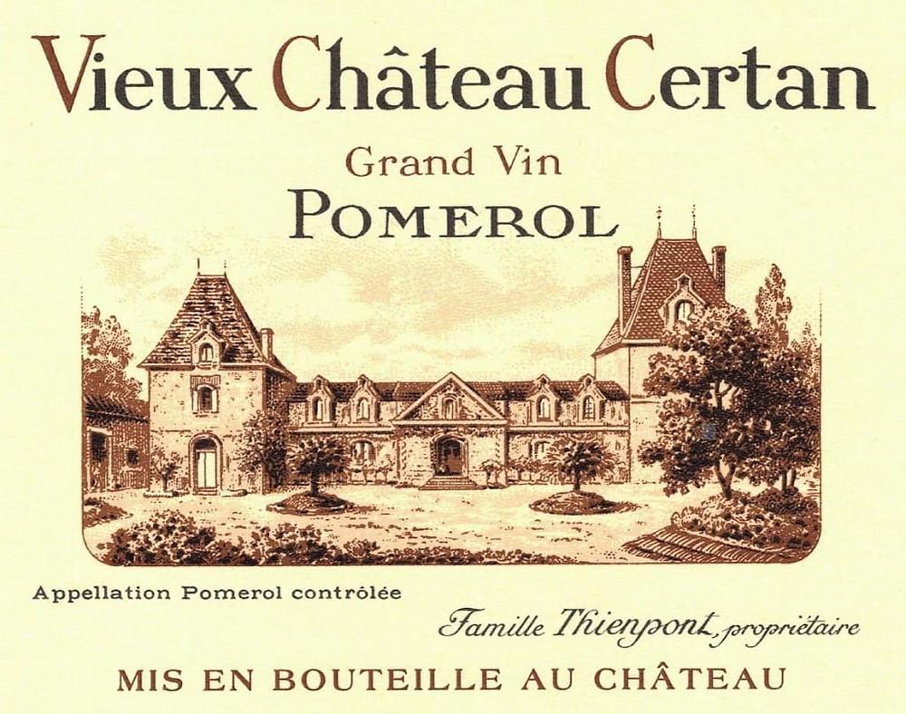 Example of Pomerol AOC wine label.