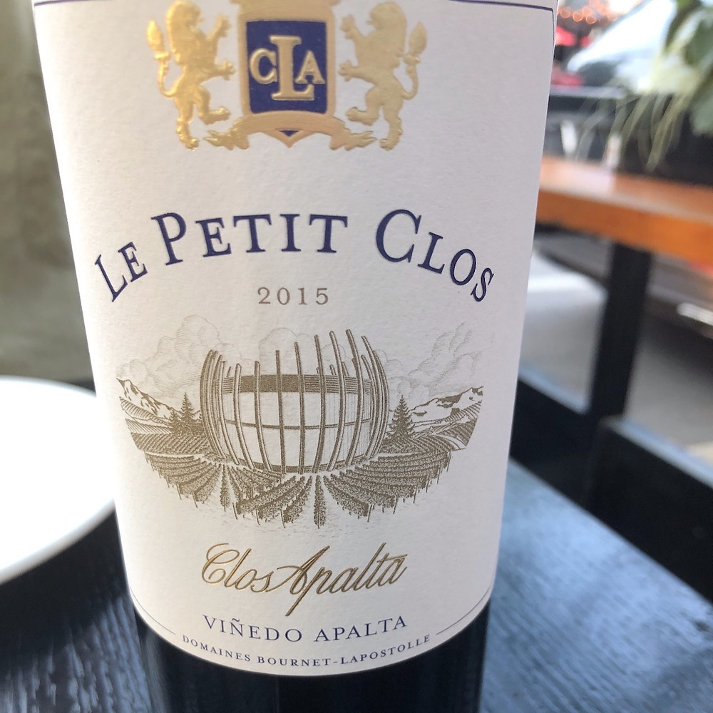 Bottle of Le Petit Clos Apalta 2015 - Chile