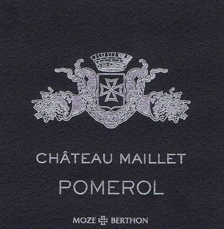 Chateau Maillet Bordeaux from Pomerol - Wine Label