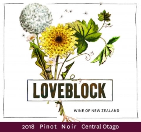 LoveBlock Pinot Noir label