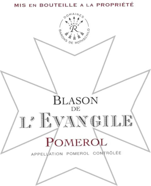 Blason de L'Evangile, Pomerol AOC wine label