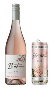 Bottle and Can of Bonterra Rose