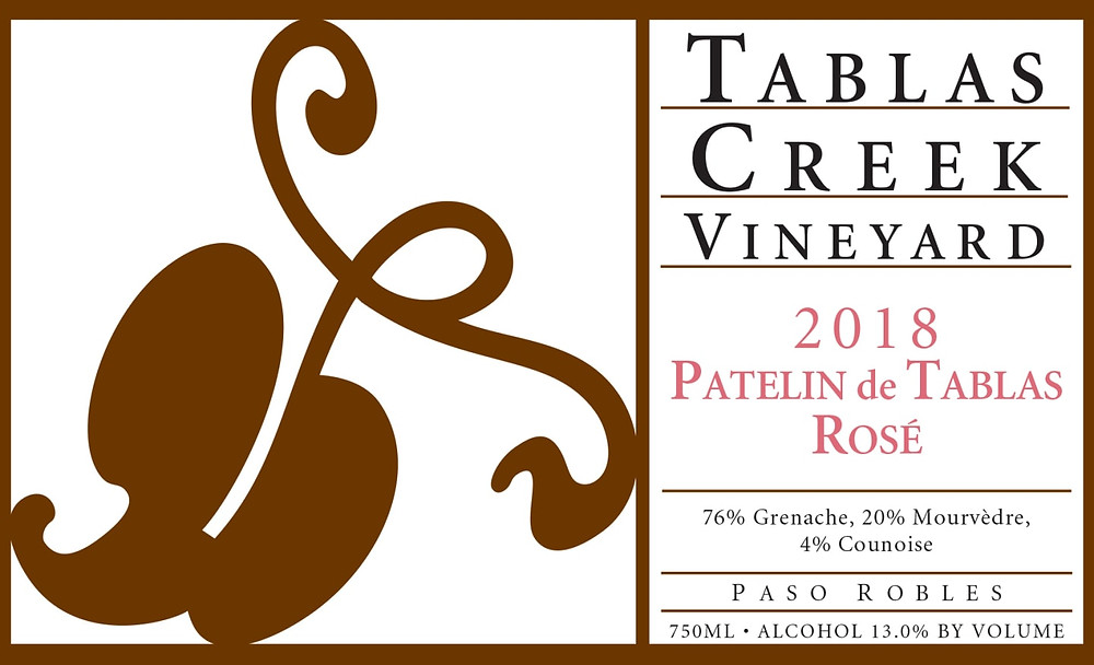 Tablas Creek Vineyard Rose wine.