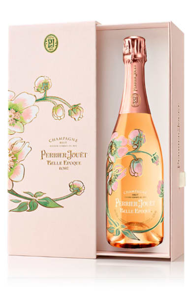 Bottle of Perrier-Jouet Rose with Gift Box.