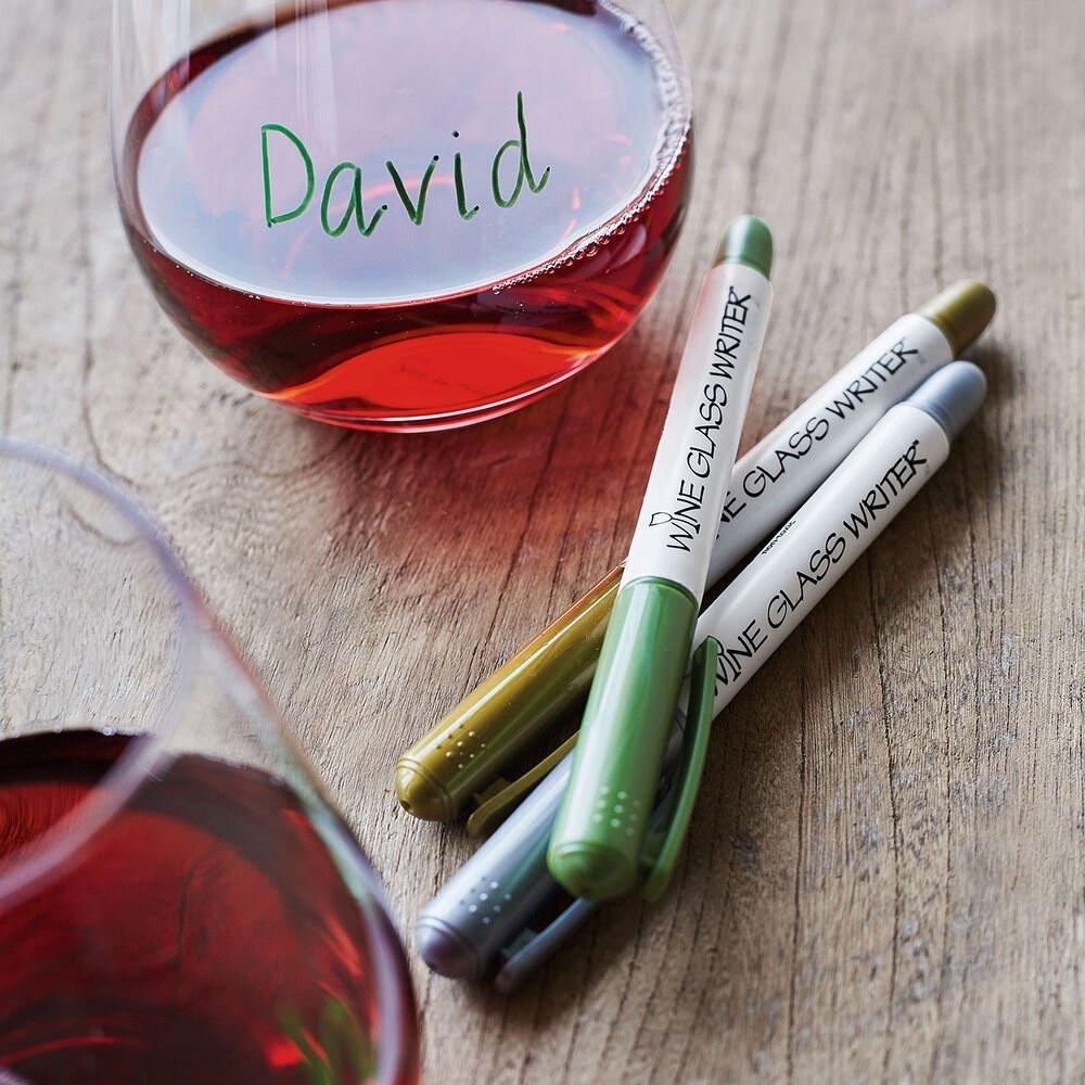 Wine glass writer