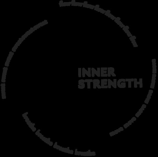 Inner Strength typographic spiral full b