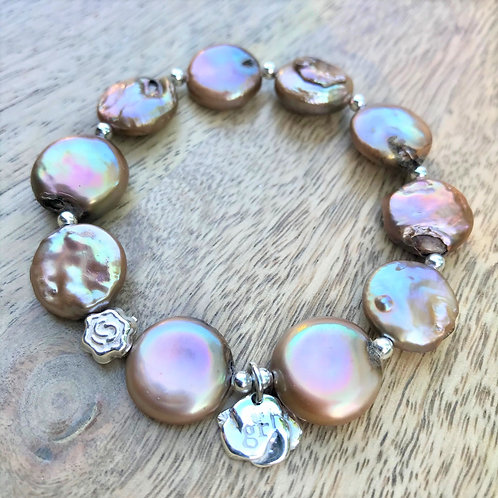 Freshwater Pearl rose pink bracelets