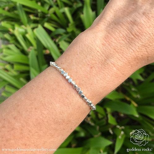 925 Silver Bracelet -Triangle Sides