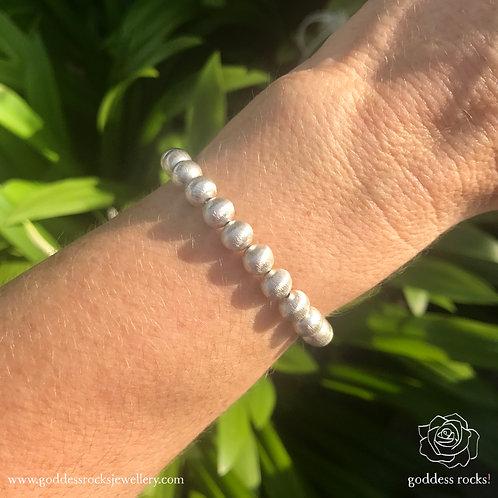 925 Silver Bracelet - Round Ball