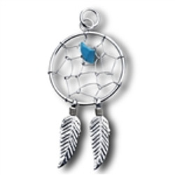 Dream Catcher with Synthetic Turquoise