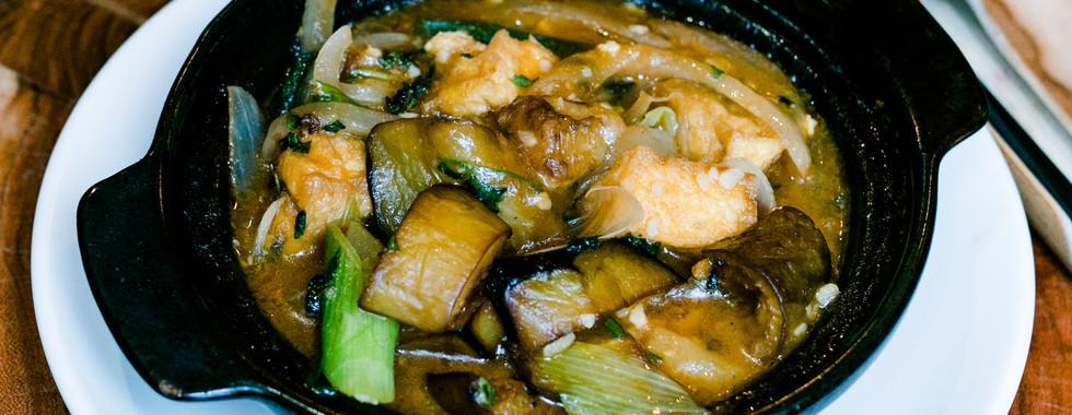 Braised Tofu Aubergine