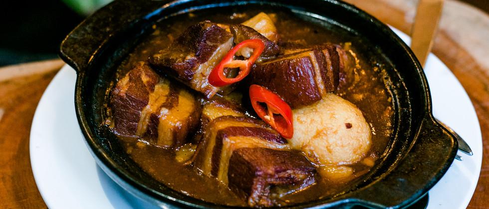 Stewed Pork in Claypot