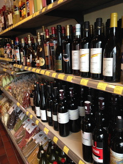 A wine and specialty foods shop in the village of Dorf Tirol
