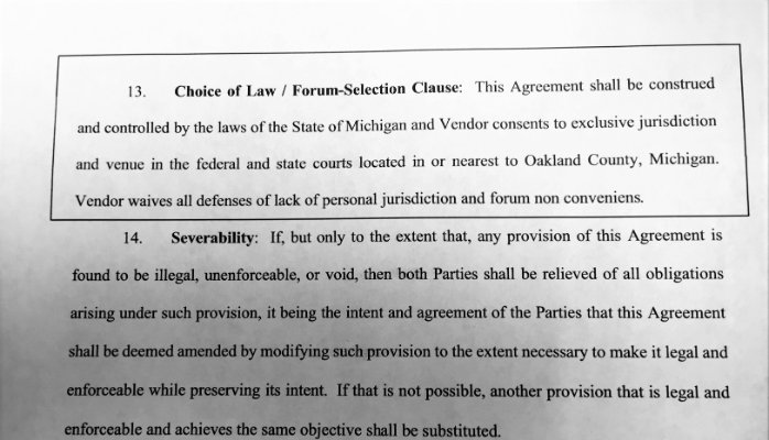 Forum Selection Clauses Michigan Law Can Parties Pick A Specific